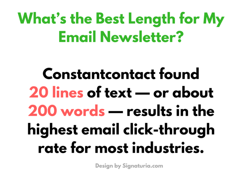 Best Length for My Email Newsletter
