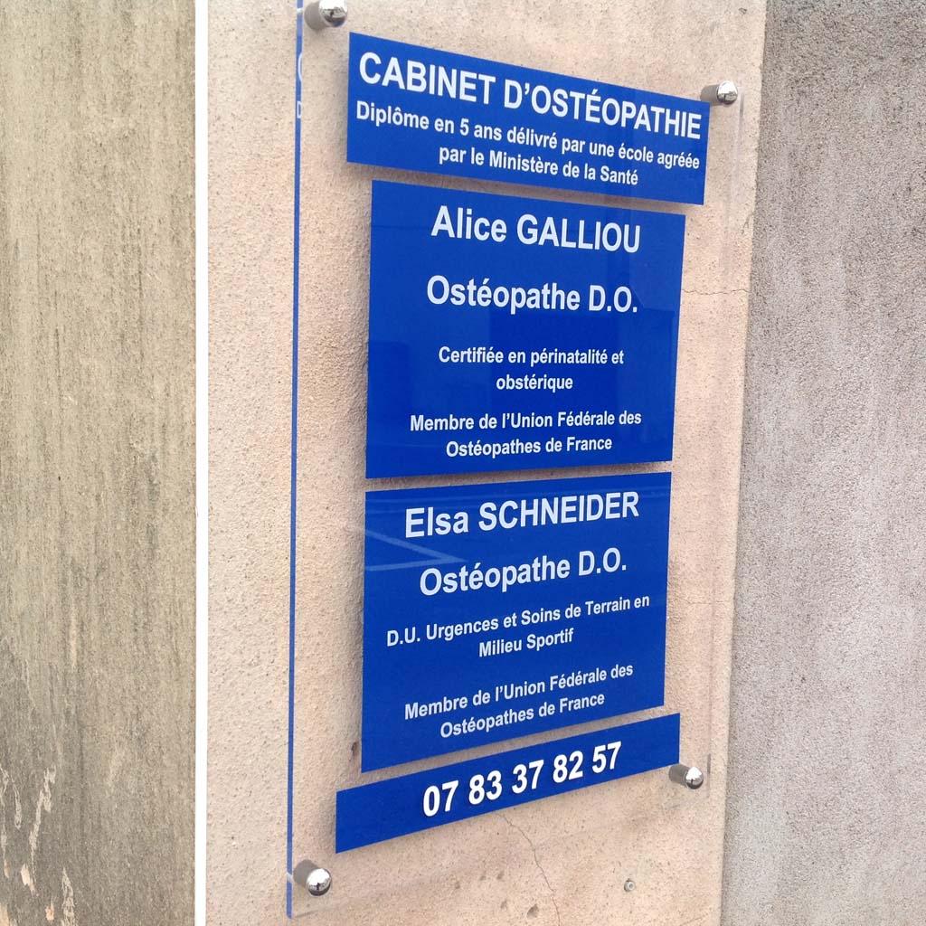 SignETIK Plaque Faade En Plexi Pour Cabinet Mdical