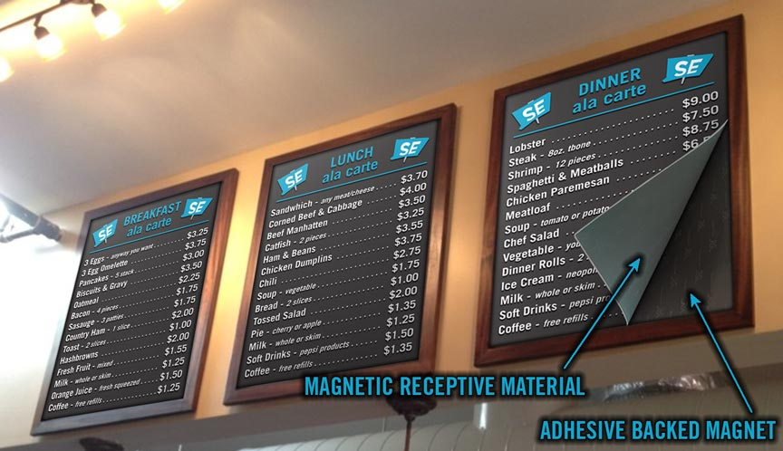 Magnetic Menu Boards  signexamplecom