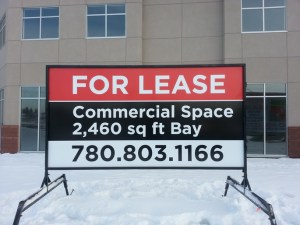 Commercial Real Estate Signs Fort McMurray