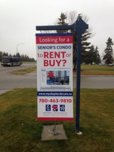 Sherwood Park For Lease Signs