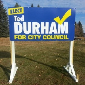 Spruce Grove Election Signs