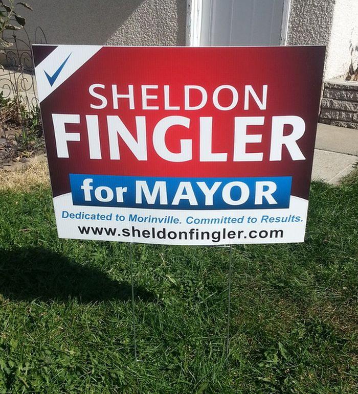 Edmonton North Election Sign