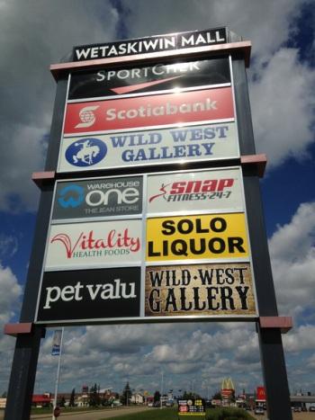 Calgary Pylon Sign