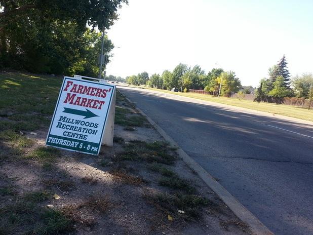 Edmonton East Sidewalk Signs