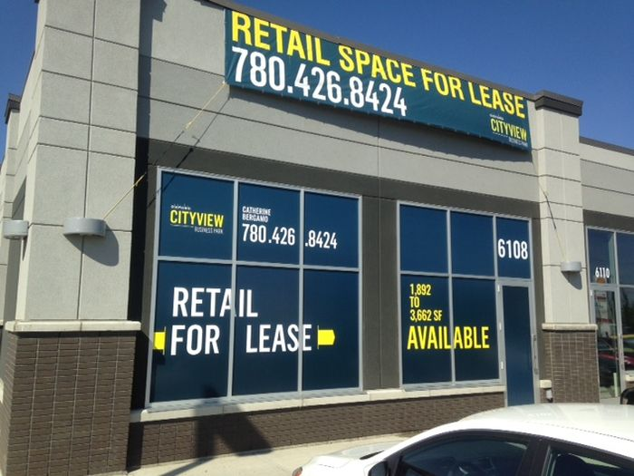 Stony Plain For Lease Signs