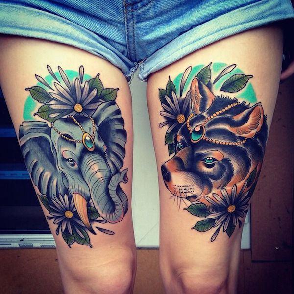Tatuajes En Las Piernas Hombres Y Mujeres 2019
