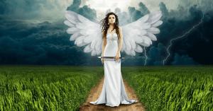 anjo voando em paz