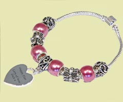 Personalised Silver Plated Bracelet gift