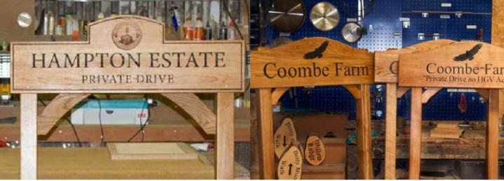 Wooden Estate Signage