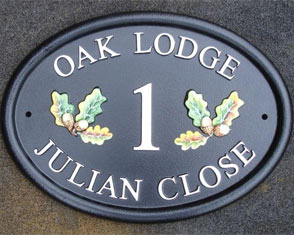 Hand Painted House Sign