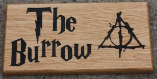 Harry Potter font House Sign