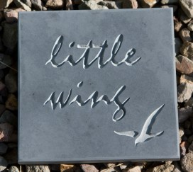 Small etched and Unpainted Slate House Sign