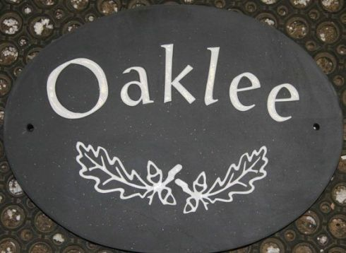 Oval Slate House Sign