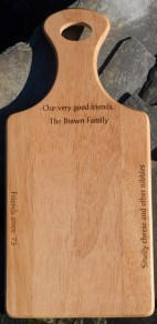 Personalised Paddle board chopping block gift