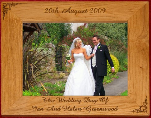 Wooden personalised Photo frame gift