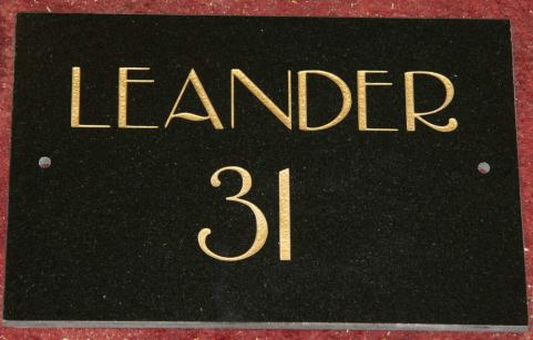 Black Granite House Sign