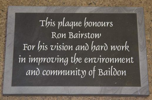 Slate Memorial plaque with Border in relief