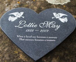 Heart shaped Corian Memorial