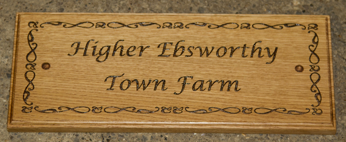 Elegant wooden sign