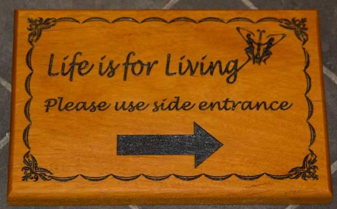 Opepe Wood Sign