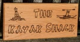 Size 225 x 500mm. Font Burnstown Dam. Ref 1312.LW.100 www.sign-maker.net/wooden/elegant-timber-signs.htm