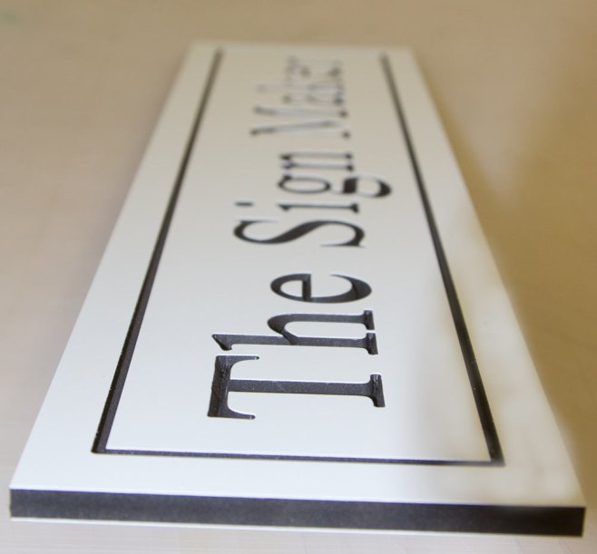 Deep Engraved PVC with black core