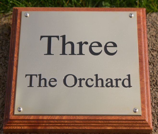 Engraved Brass House Sign