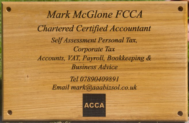 Wooden Accountants Plaque