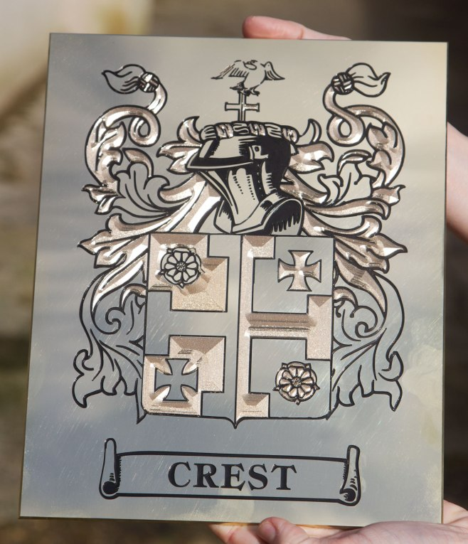 Engraved Family Crest