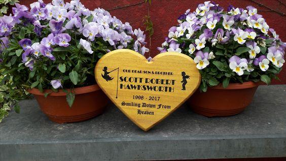 Heart shaped Wooden Memorials