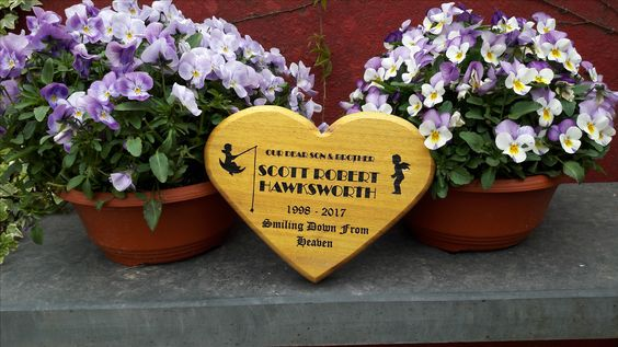 Heart shaped Wooden Memorials
