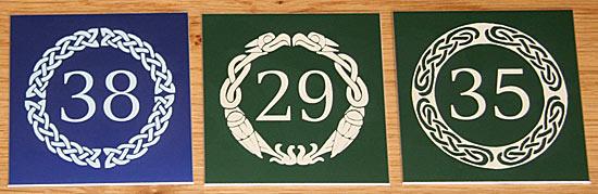 Green Anodised Aluminium Number