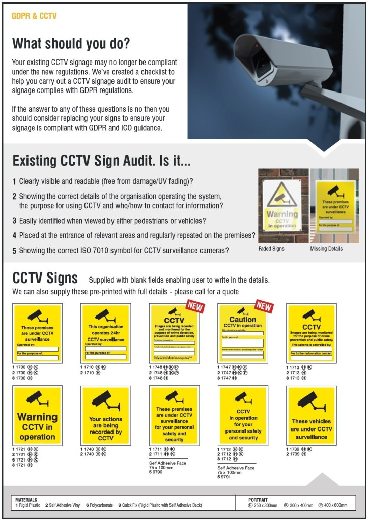 Update your CCTV Signs
