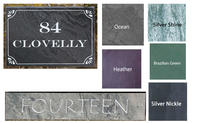 coloured slate