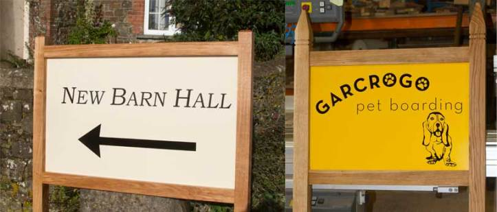 House and business entrance signs