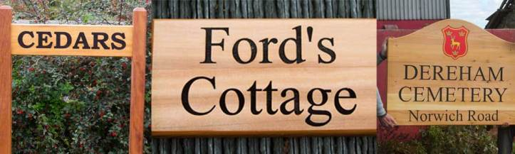 Red Cedar signs manufactured but The Sign Makers in North Devon