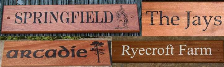 Sapele nameplates by The Sign Maker