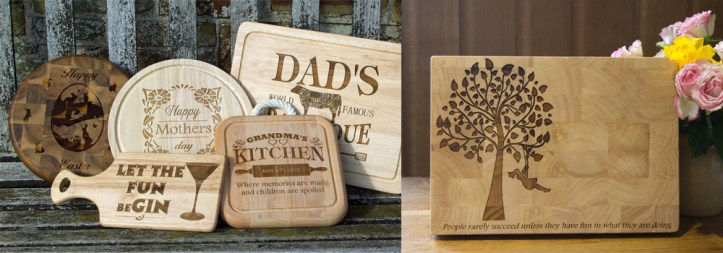 Personalised chopping boards make for great Christmas Presents.