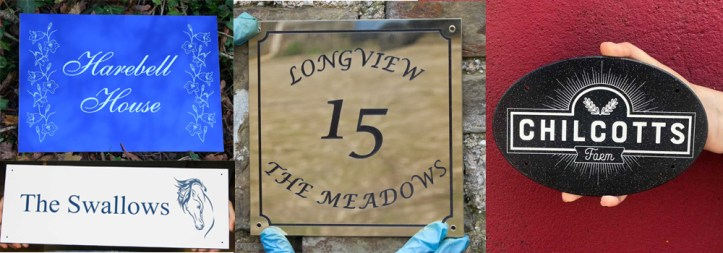 Beautiful, bespoke and low maintenance plaques crafted by The Sign Maker.