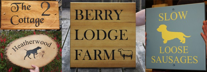 High quality, bespoke wooden signage for your home from The Sign Maker.