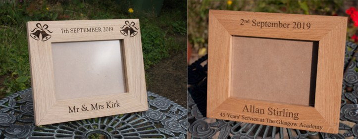 Carpentry made photo frames for Christmas by The Sign Maker.
