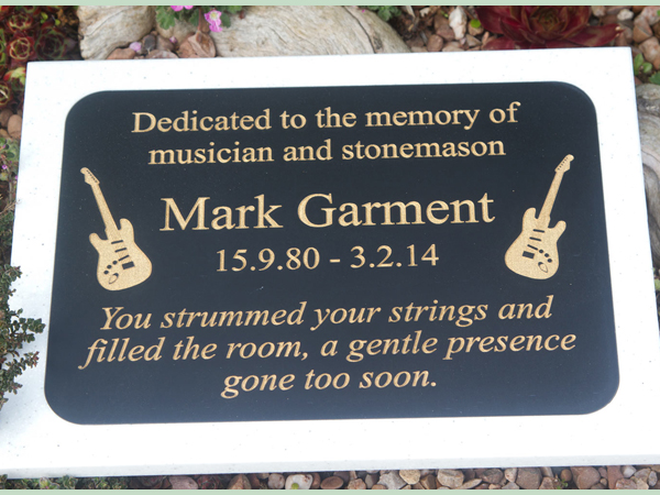 High quality engraved memorials crafted by The Sign Maker.