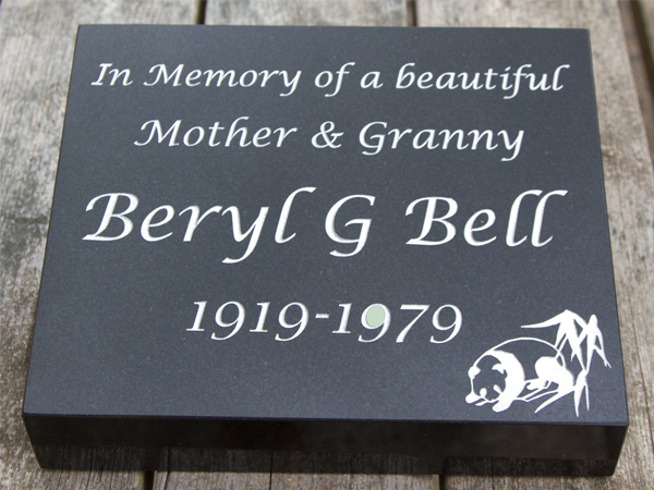 Beautiful stone memorials, designed and made by the Sign Maker.