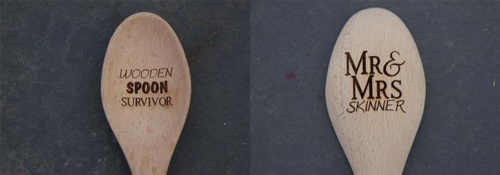 Have a message put onto your wooden spoons instead of an image.