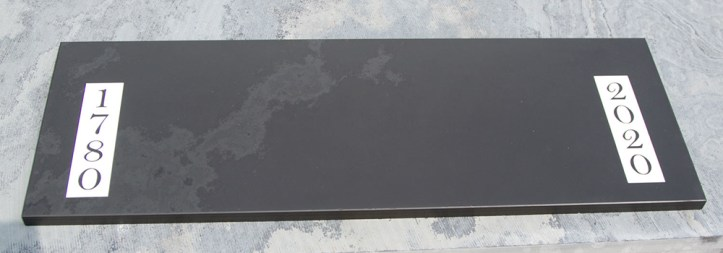 Choose any design you like for your bespoke slate door step.
