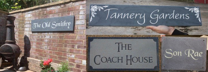 Slate is a beautiful, high quality material that is an excellent choice for home bars, pubs and garden signs.