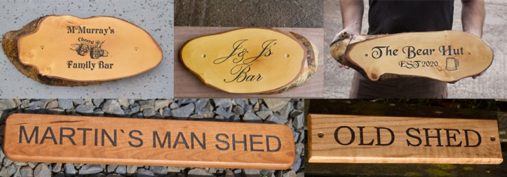 Beautiful wooden pub and bar signs made by The Sign Make in North Devon.