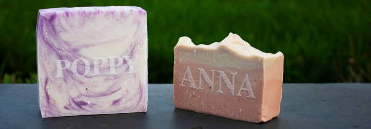High quality soap as a wedding favour created at The Sign Maker.