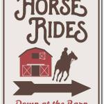 Horse Rides Sign Horse Barn Decor Horse Barn Sign Ensa1003107 Ebay